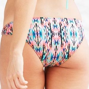 Shade & Shore Gold & Multicolor Rouched Bottom